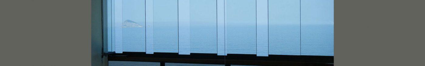 banner cortina de vidro